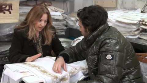 Παρουσίαση της Καρσάνικης Βελονιάς από τη Μαυρέττα Αρβανίτη