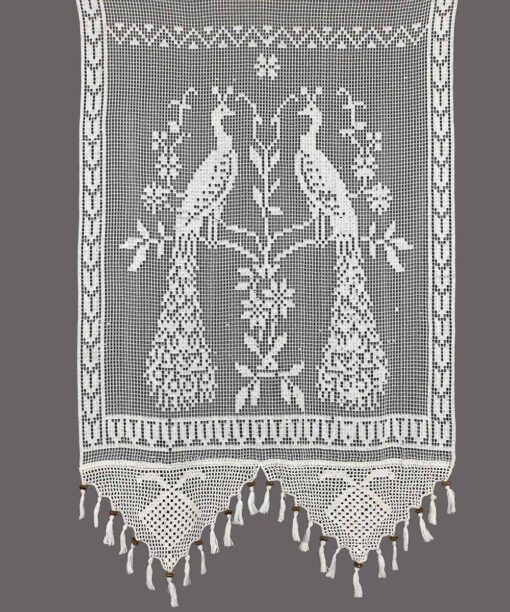 Integral Handmade Traditional Curtain with Birds Pattern