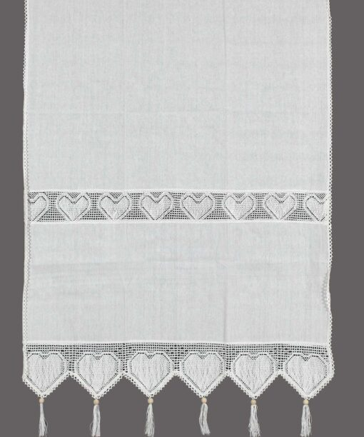 Traditional Curtain with Atrade, Lace and Fringes