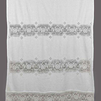Traditional Handmade Curtain with Atrade, Azure and Lace