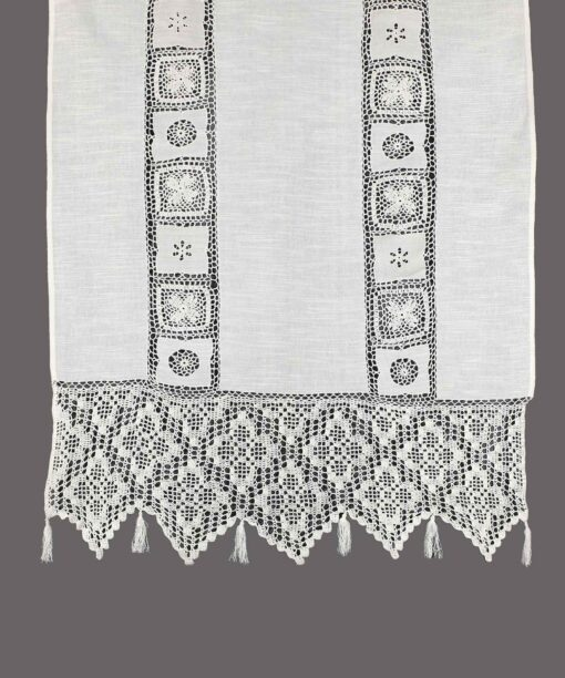 Traditional Handmade Curtain with Atrade and Lace