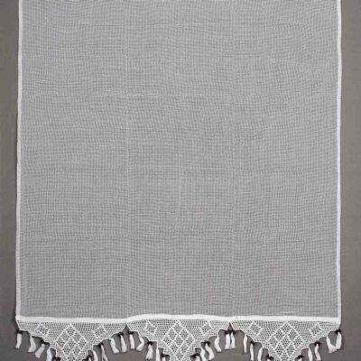 Traditional Handmade Curtain with Lace and Fringes