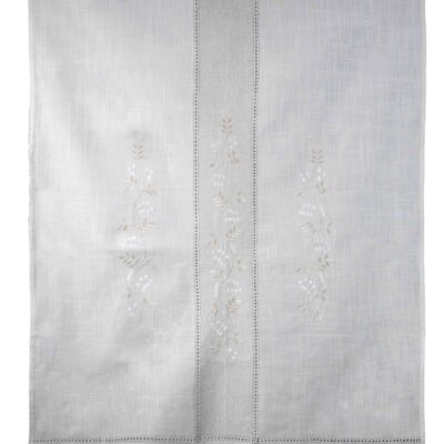 Traditional Handmade Curtain with Embroidery and Azure