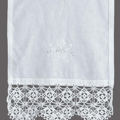 Traditional Handmade Curtain with Embroidery and Lace