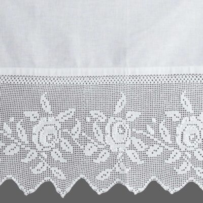 Traditional Handmade Curtain with Lace