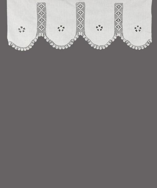 Cortina multifuncional hecha a mano tradicional con bordado de punto