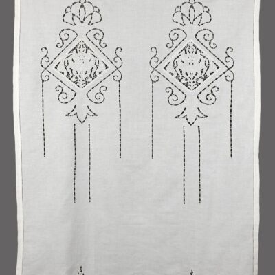 Traditional Handmade Curtain with Cut Embroidery