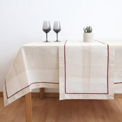 テーブルクロス/フレーム/ボーダーラインリガのトラバース