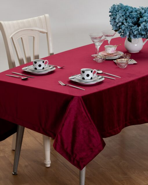Nappe Velours Rouge