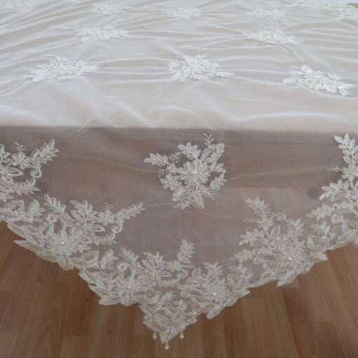 Embroidered Tulle with Beads (Frame, Traverse)