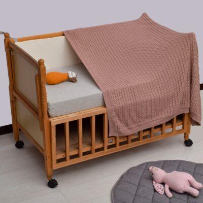 Κουβερτάκι Μωρού Πλεκτό Ροζ