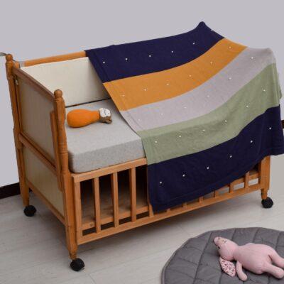 Κουβερτάκι Μωρού με Πολύχρωμες Ρίγες και με Θέμα Dots