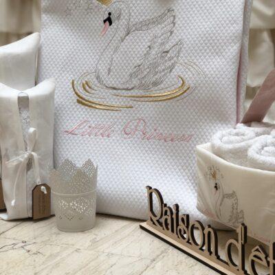 Предметы приданого для новорожденных Raison D'être - Лебедь с короной