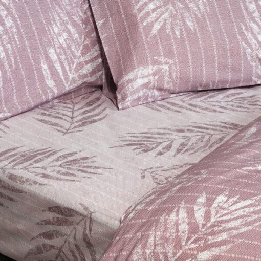 Σετ παπλωματοθήκη υπέρδιπλη Zane Art 1967 230×250 Ροζ