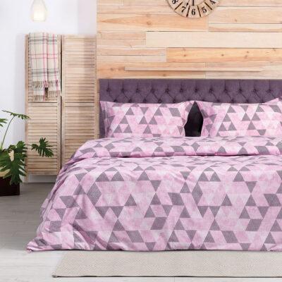طقم بياضات السرير Leda Art 1976 230 × 240 Pink، Grey