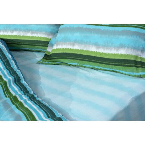 Σετ σεντόνια μονά Hector Art 1982 170×240 Γαλάζιο,Πράσινο