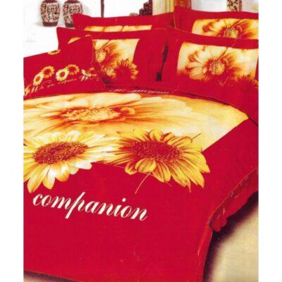 Duvet cover single with Bottom sheet Joy15 160x240 Red