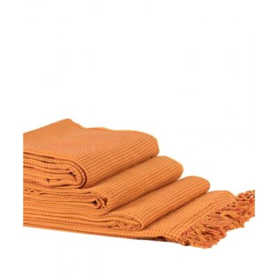 Jeté Lot de 3 Pièces Dobby (180 x 180, 180 x 250, 180 x 300) Orange