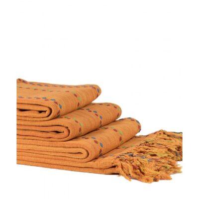 Mantas Juego de 3 piezas DotRegina (150 x 180, 170 x 230, 170 x 270) Naranja