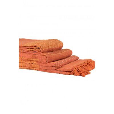 Mantas Juego de 3 piezas de fantasía (150 x 180, 170 x 230, 170 x 270) Naranja