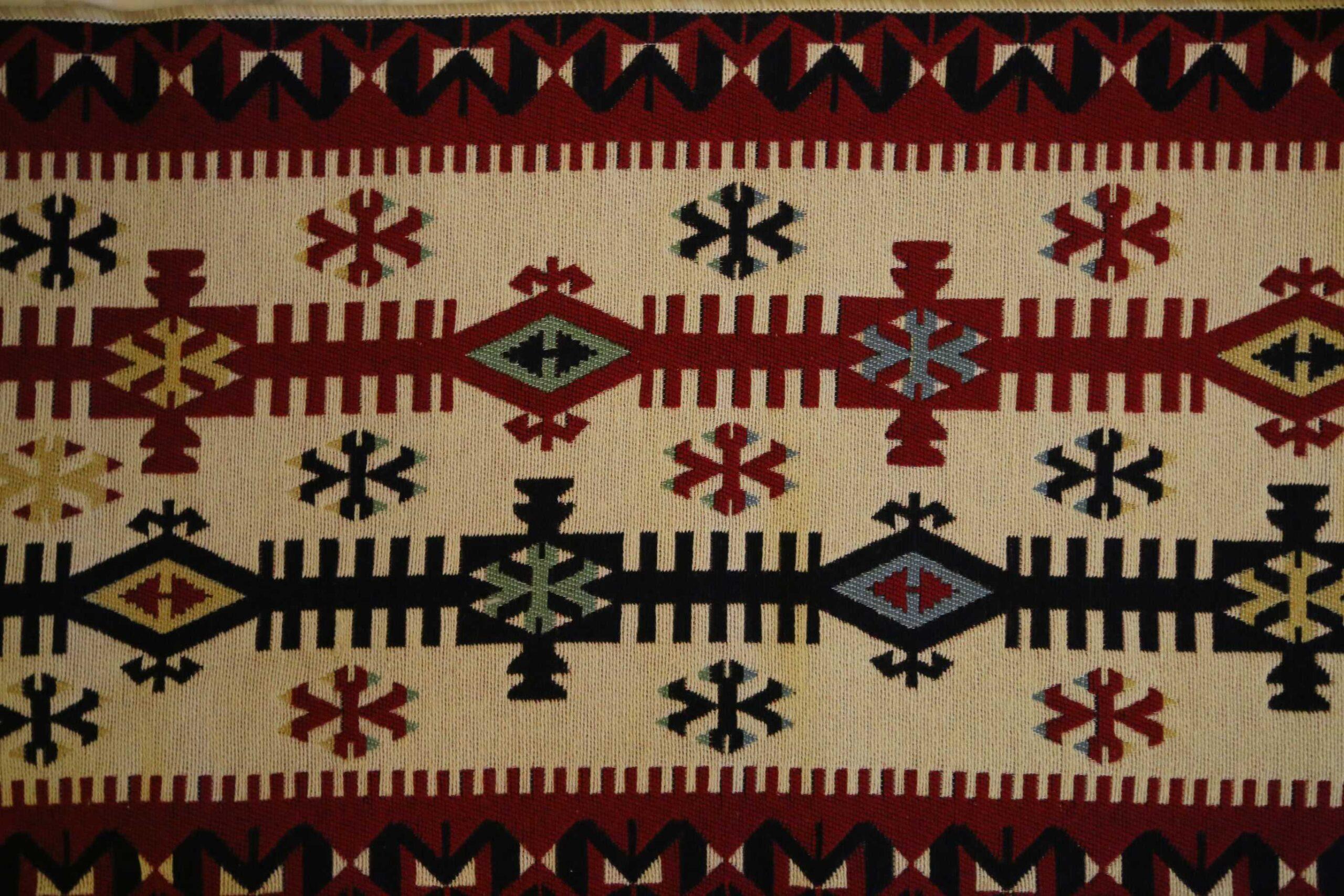Παραδοσιακό Κιλίμι με Γεωμετρικό Σχέδιο