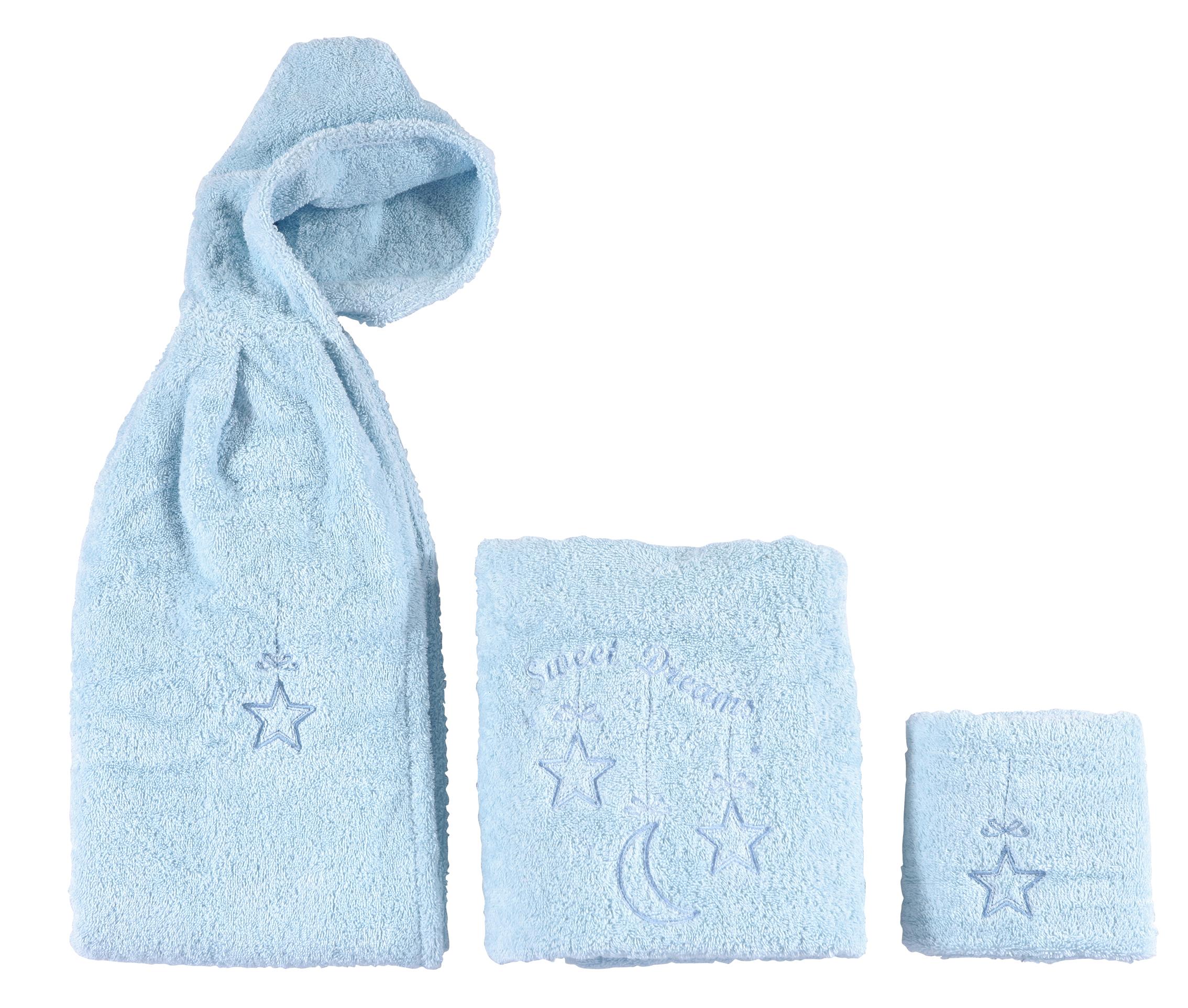 Σετ Βρεφικές Πετσέτες Sweet Dreams Blue bebe