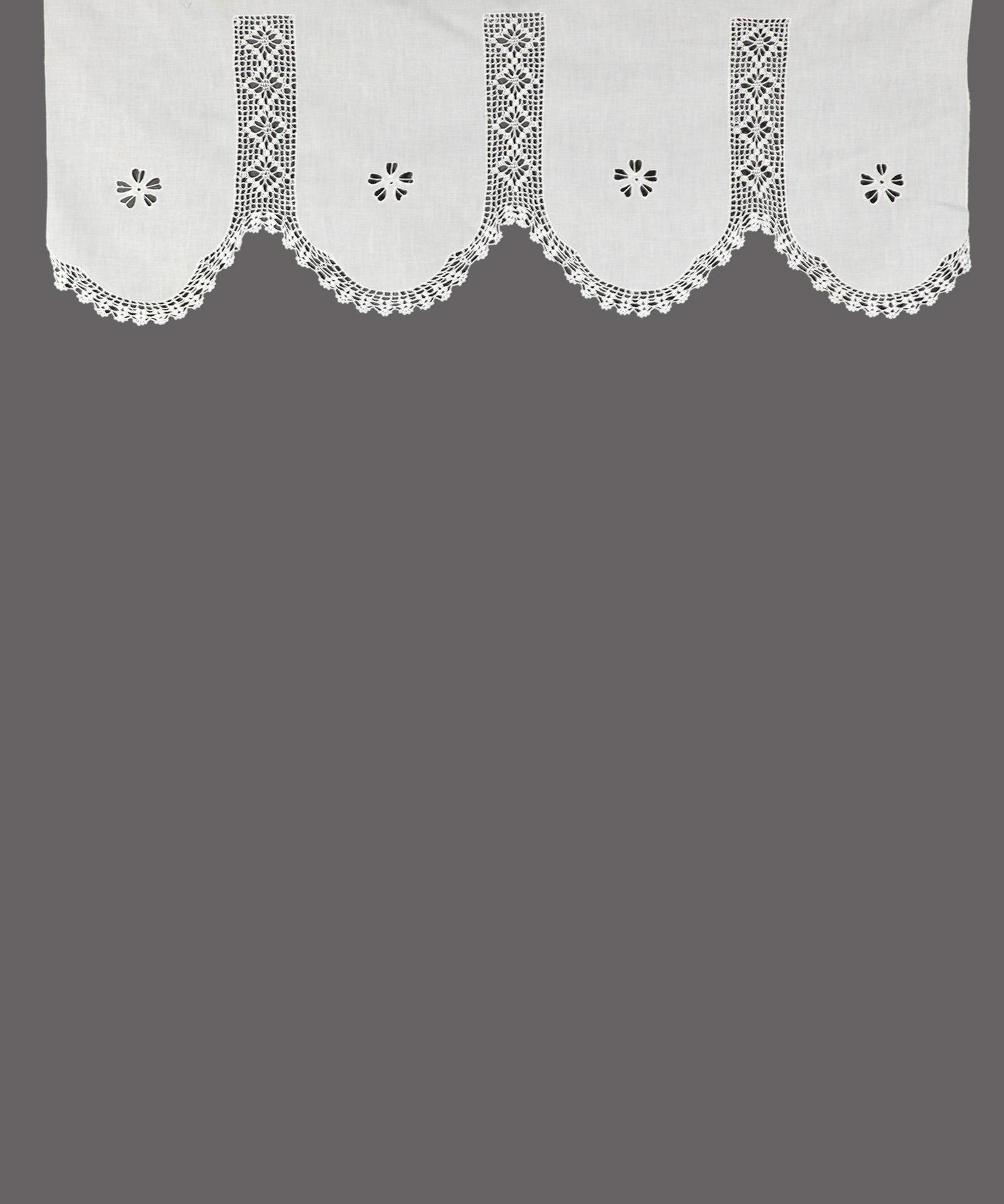 Παραδοσιακό Χειροποίητο Κουρτινάκι Τετράπτυχο με Πλεκτό Κέντημα