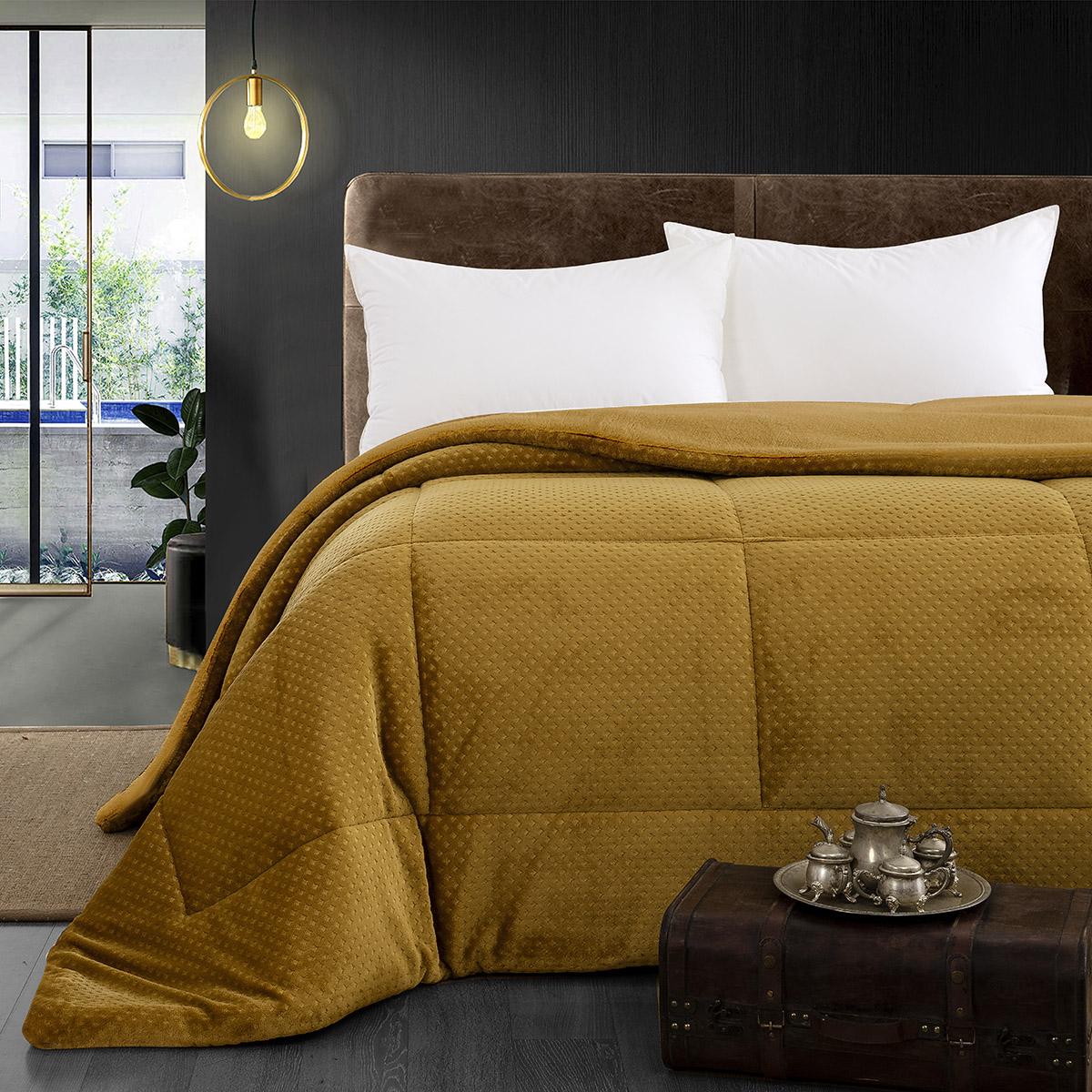 Κουβερτοπάπλωμα υπέρδιπλο Art 11054 220×240 Κίτρινο