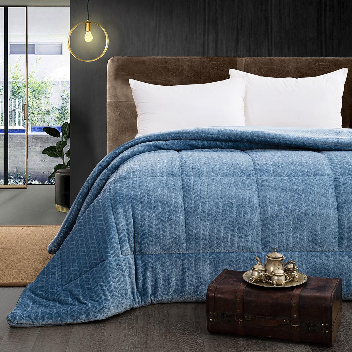 Κουβερτοπάπλωμα μονό Art 11060 160×220 Μπλε