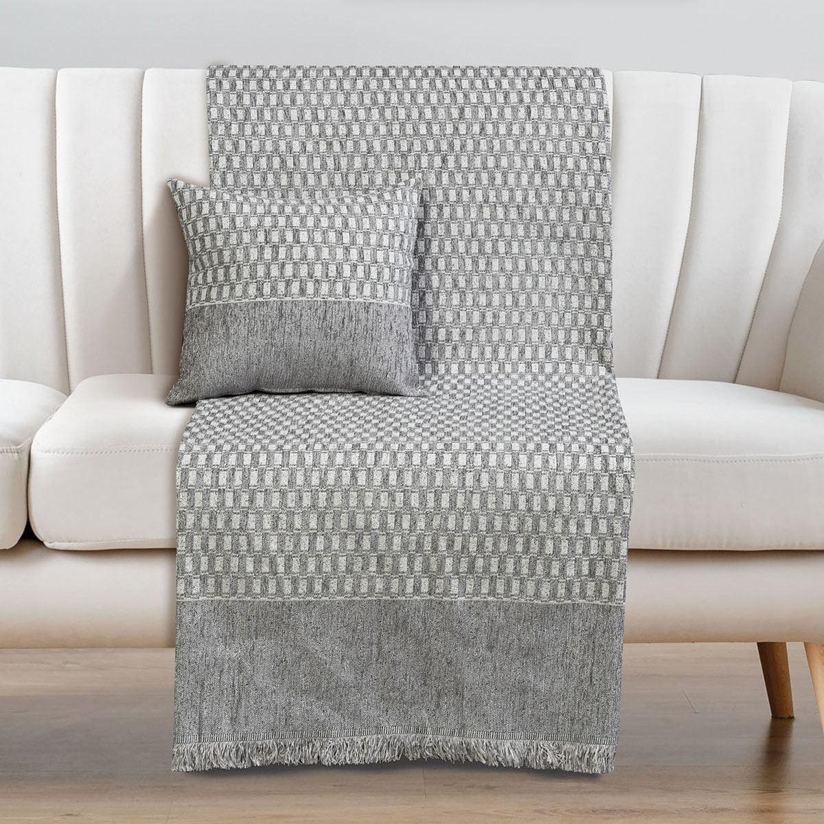 Ριχτάρια σετ 2τμχ Art 8337 (180×250 + 180×300) Γκρι