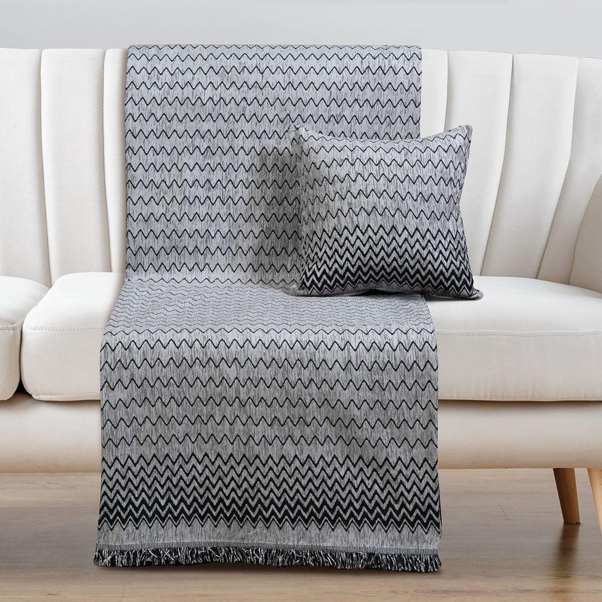 Ριχτάρια σετ 2τμχ Art 8338 (180×250 + 180×300) Γκρι