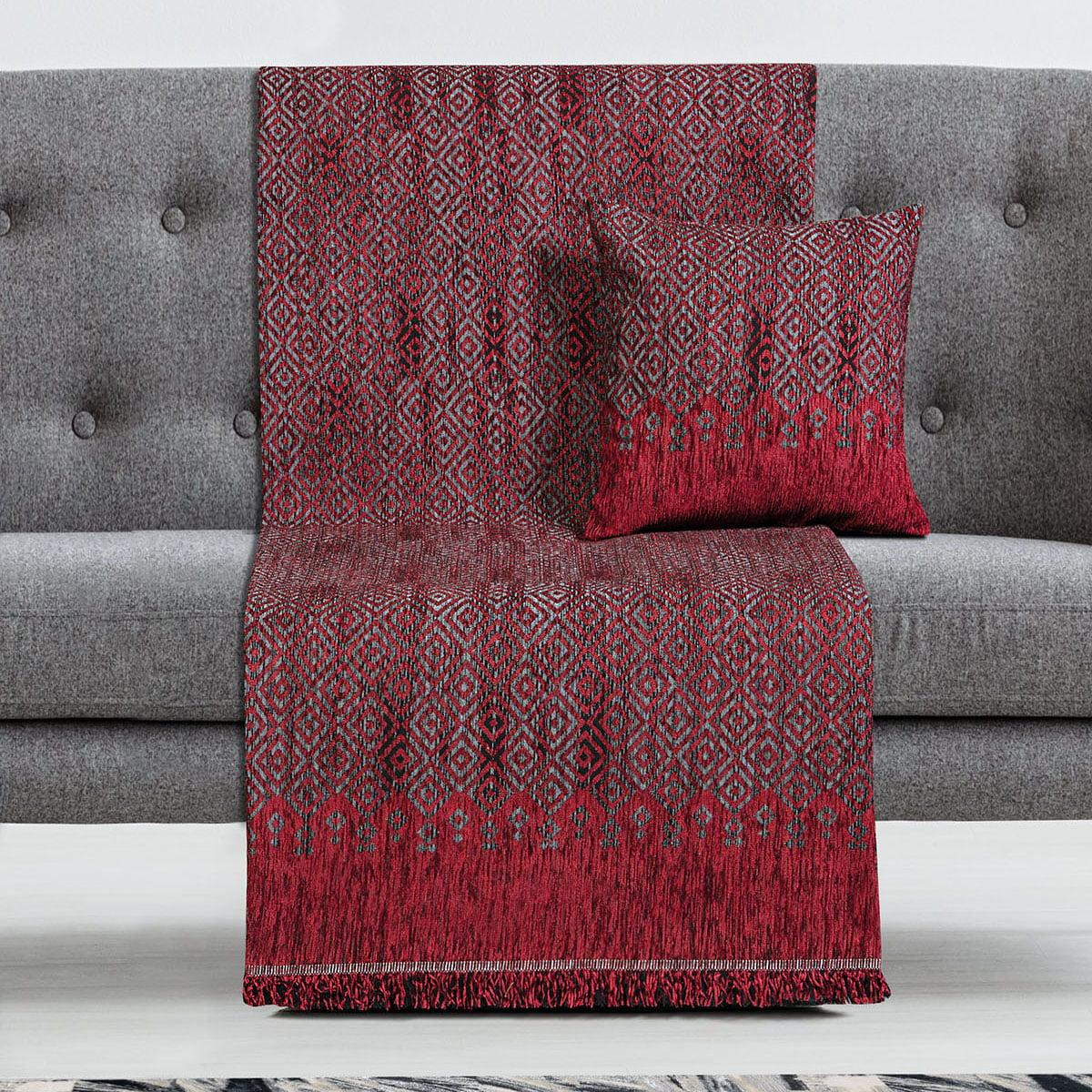 Ριχτάρια σετ 3τμχ Art 8346 (180×170 + 180×250 + 180×300) Κόκκινο