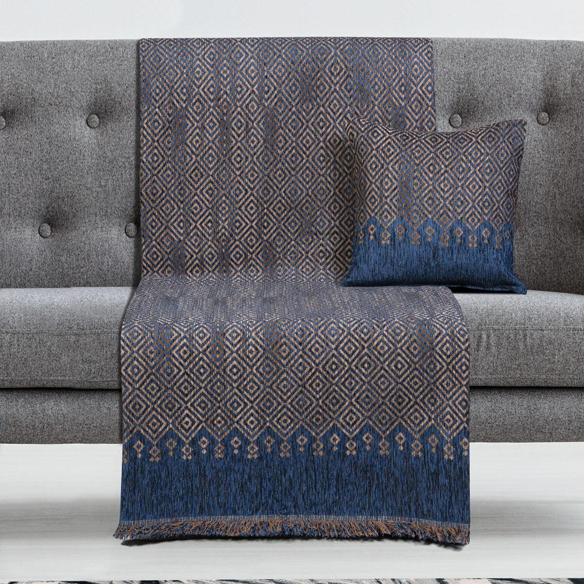 Ριχτάρια σετ 3τμχ Art 8347 (180×170 + 180×250 + 180×300) Μπλε
