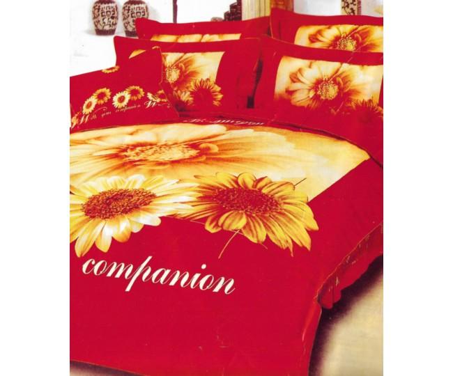 Παπλωματοθήκη μονή με Κατωσέντονο με λάστιχο Joy15 160x240 Κόκκινη
