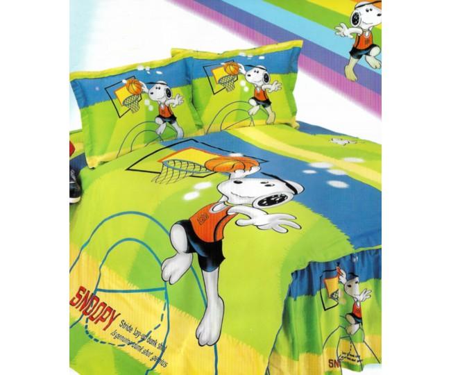 Παπλωματοθήκη μονή με Κατωσέντονο με λάστιχο Joy24 160x240 Snoopy