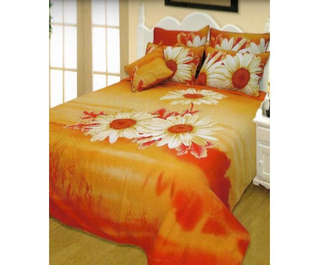 Παπλωματοθήκη μονή με Κατωσέντονο με λάστιχο Joy26 160x240 Πορτοκαλί