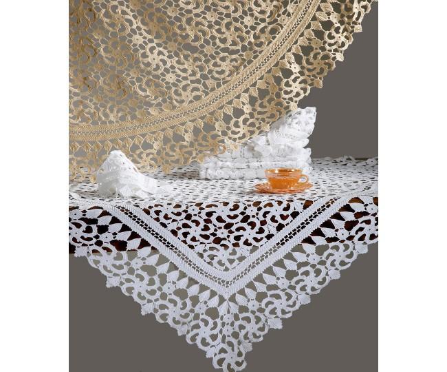 Χειροποίητο Πλεκτό Τραπεζομάντηλο με Μερσεριζέ Κλωστή 180 x 220