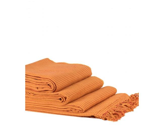 Ριχτάρια Σετ 3 Τεμαχίων Dobby (180 x 180, 180 x 250, 180 x 300) Πορτοκαλί