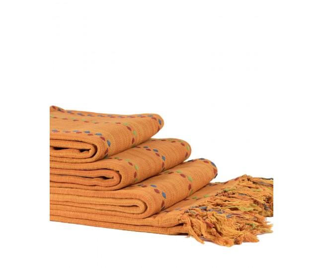 Ριχτάρια Σετ 3 Τεμαχίων DotRegina (150 x 180, 170 x 230, 170 x 270) Πορτοκαλί